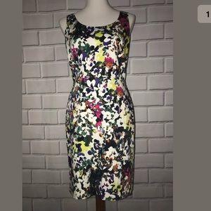 Ann Taylor Sleeveless Floral Sheath Dress 8P